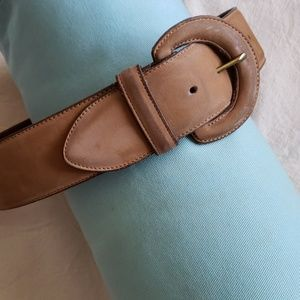 Coach Buff Nubuc Calfskin Belt